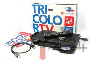 Tricolor Maximum HD Satellite TV kit : set top box GS HD-9305 with smart card