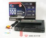 "Tricolor Satellite TV kit with HDMI: set top box GS-8302, antenna 0.6m, converter, ""START"" activation card"